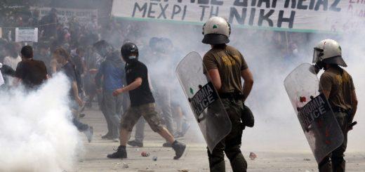 grècia prostestes contra l'austeritat